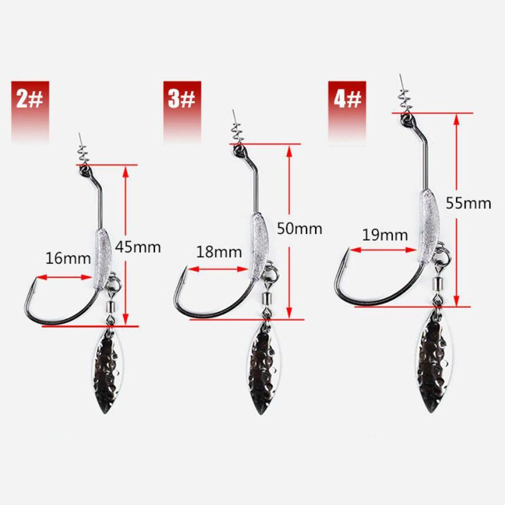 3X Flashy Swimmer crochets avec centrage-Pin Spring /& plomb /& Cuillère pour SwimBaits