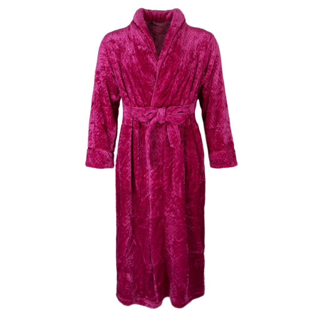 New LADIES MENS Towelling Bath ROBE SOFT COSY LONG WINTER FLEECE DRESSING GOWN