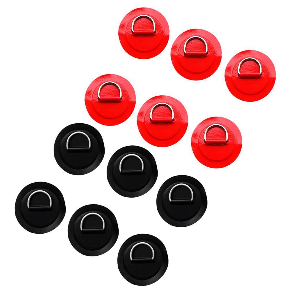 12-Pezzi-in-Acciaio-D-Ring-Pad-Patch-per-PVC-Gommone-Barca-Gonfiabile miniatura 25