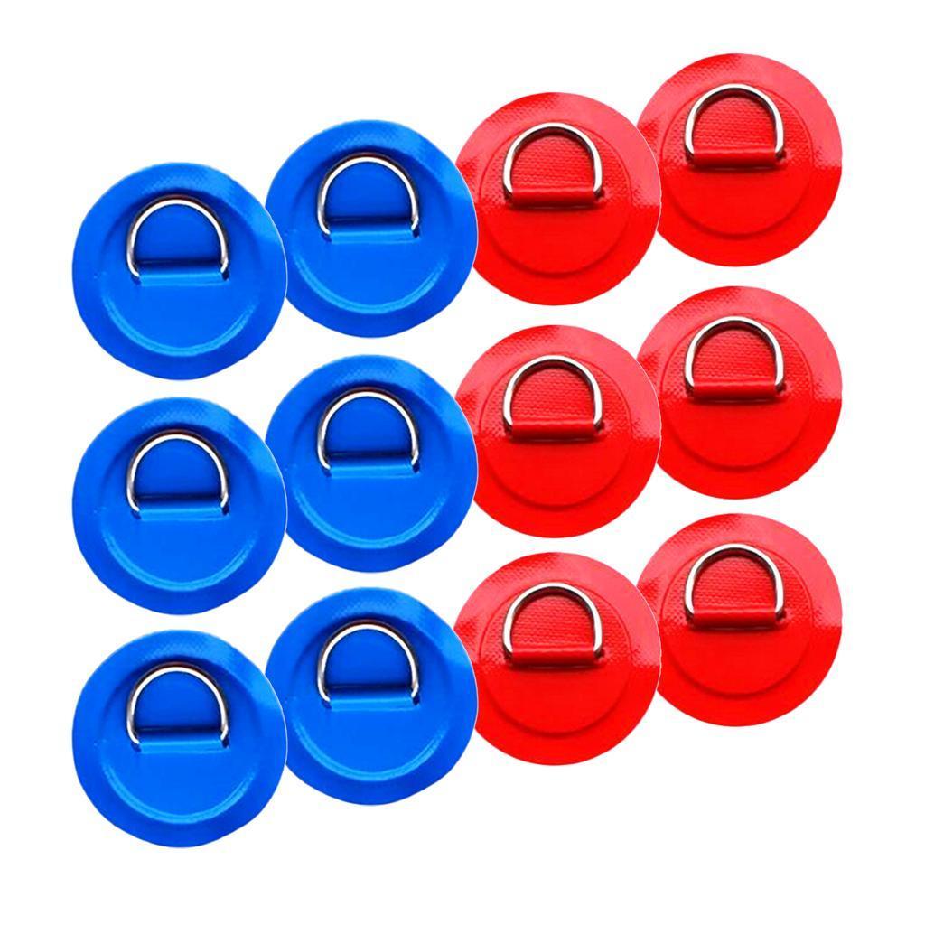 12-Pezzi-in-Acciaio-D-Ring-Pad-Patch-per-PVC-Gommone-Barca-Gonfiabile miniatura 20
