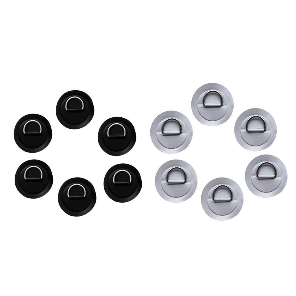 12-Pezzi-in-Acciaio-D-Ring-Pad-Patch-per-PVC-Gommone-Barca-Gonfiabile miniatura 3