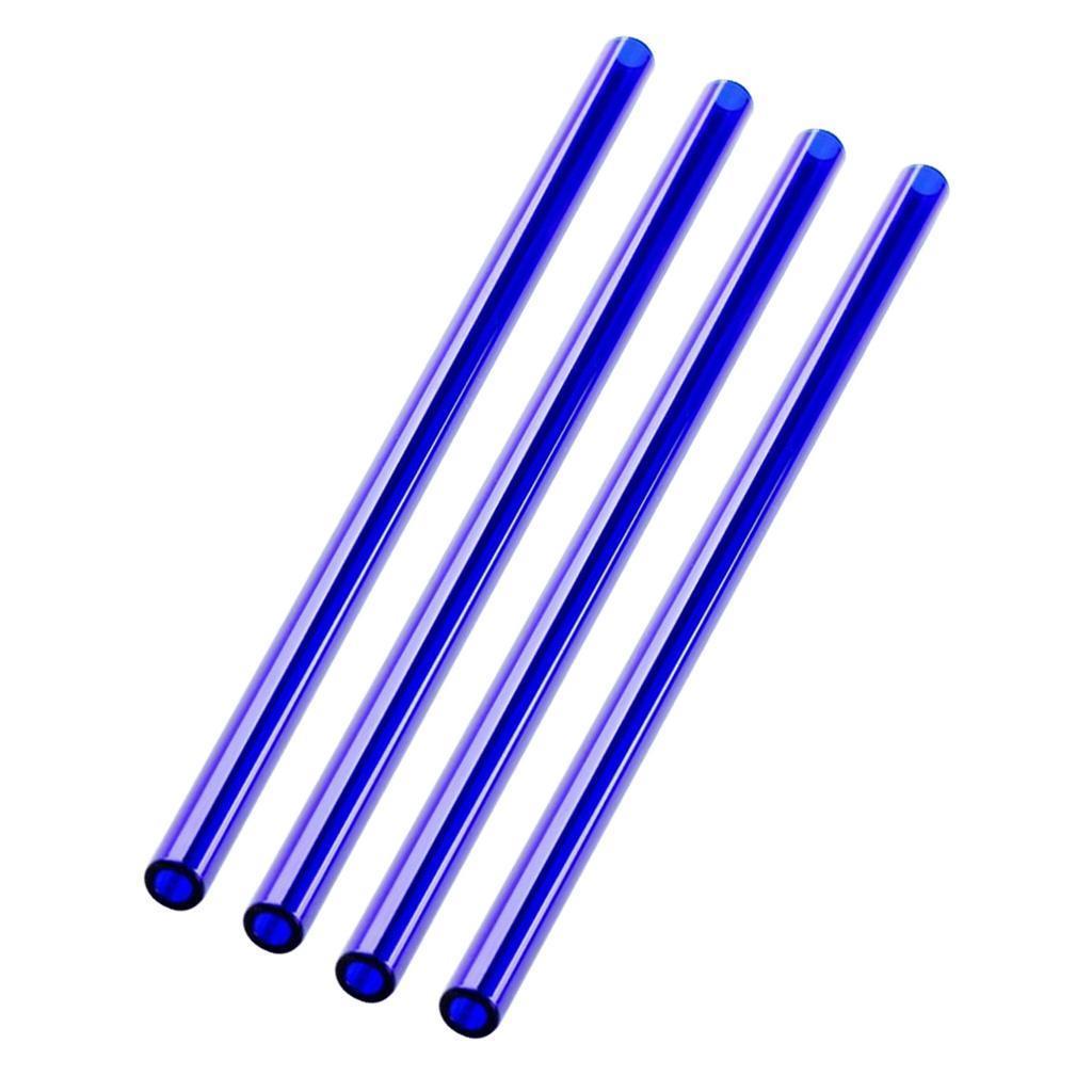 4PCS-Glass-Drinking-Straws-Milk-Juice-Water-Cocktail-Wine-Smoothie-Straws thumbnail 11