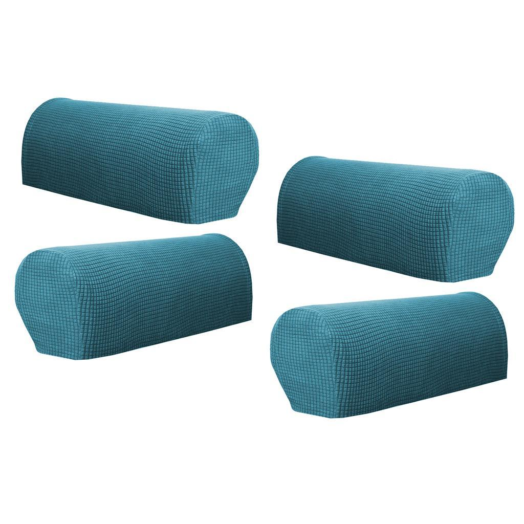 Set of 4 Premium Stretch Sofa Armrest Covers Chair ...