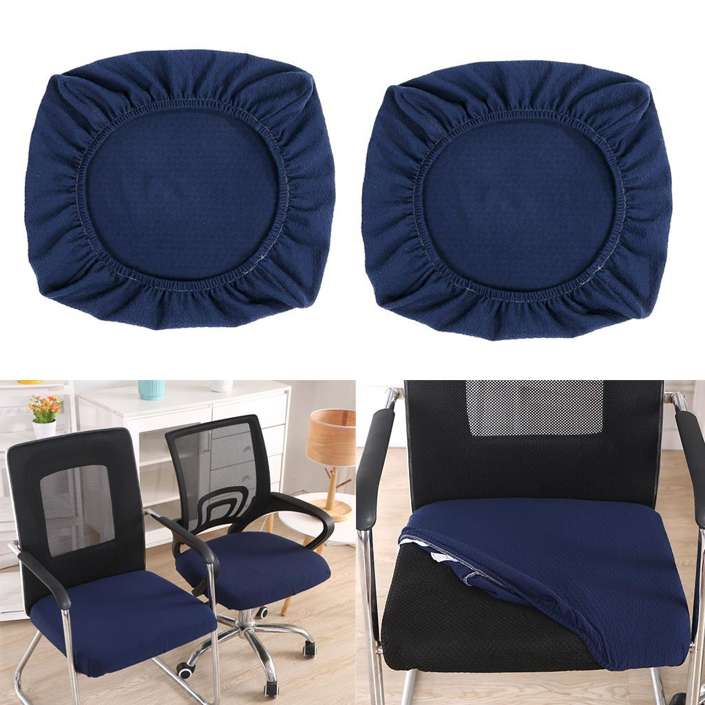 2xDining-Chair-Seat-Covers-Upholstered-Kitchen-Chair-Seat-Cushion-Slipcover thumbnail 24
