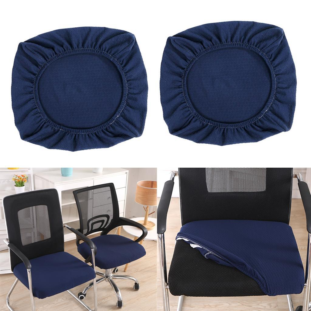 2xDining-Chair-Seat-Covers-Upholstered-Kitchen-Chair-Seat-Cushion-Slipcover thumbnail 25
