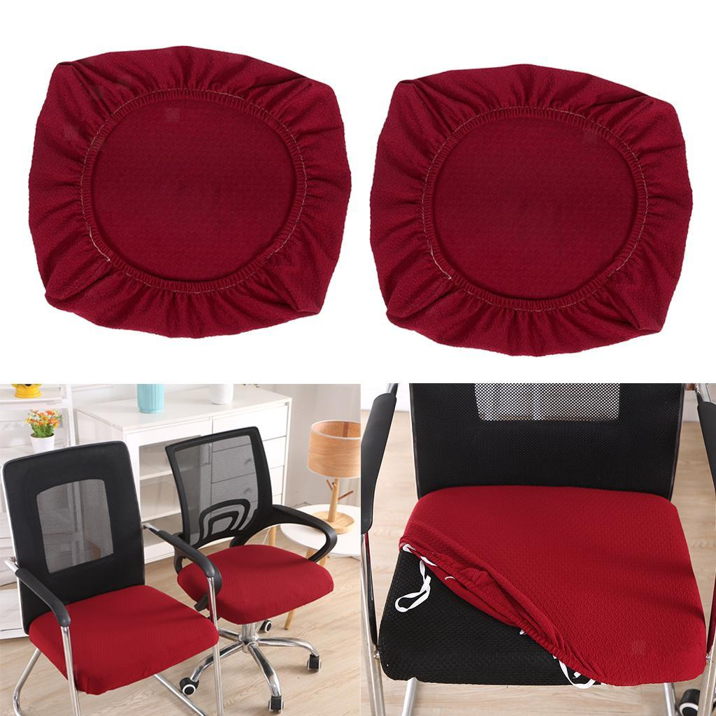 2x-Dinner-Chair-Seat-Cover-Upholstered-Kitchen-Chair-Seat-Cushion-Slipcover thumbnail 21