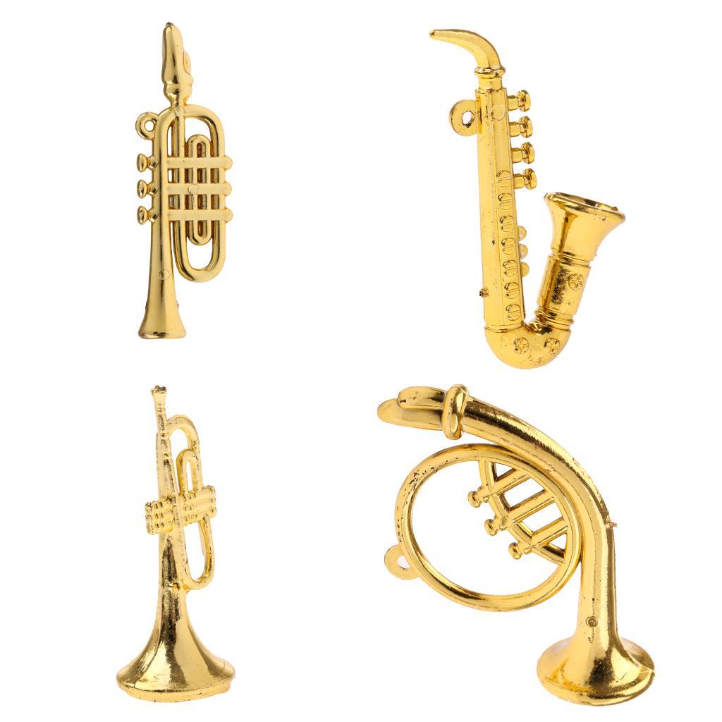 1//12 Miniature Saxophone Mini Instrument Musique Meubles Accessoires de