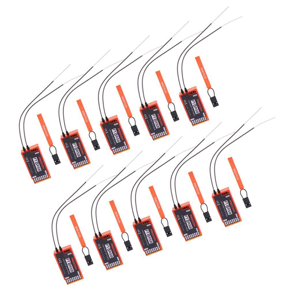10x 2.4G Mini récepteur 8CH avec sortie SBUS Pour radio 6EX, 7C, TM-7, TM-8