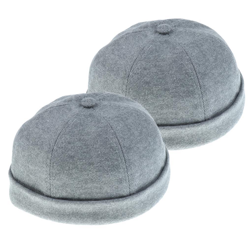 2pcs-Bonnet-Docker-en-Coton-Retro-Style-Chinois-pour-Homme miniature 17