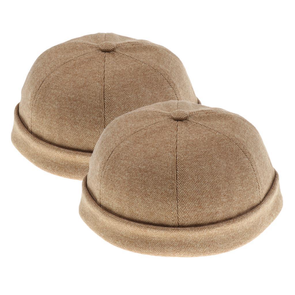 2pcs-Bonnet-Docker-en-Coton-Retro-Style-Chinois-pour-Homme miniature 19