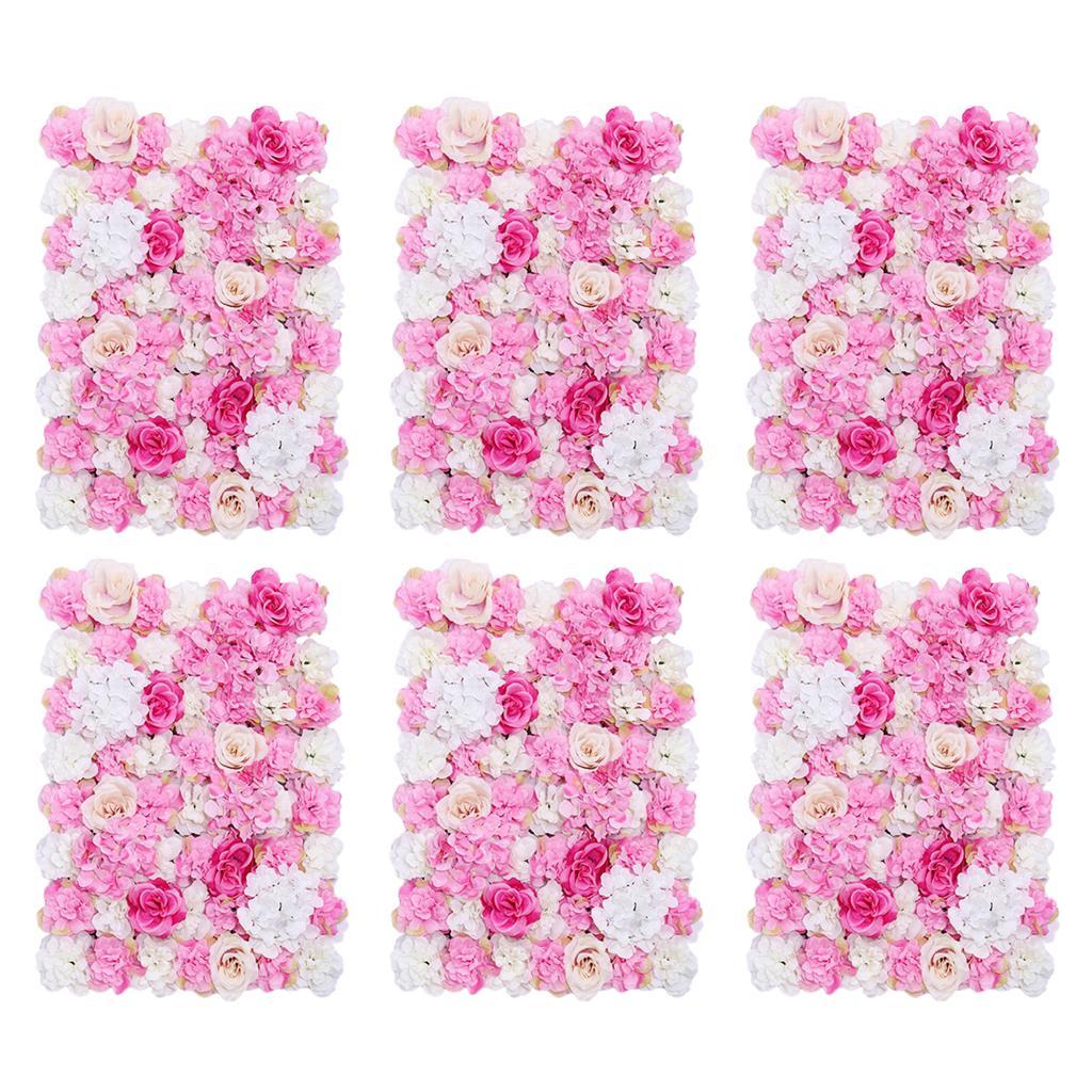 6x soie artificielle plante fleur panneaux muraux Mariage Venue Floral Décoration Accessoires