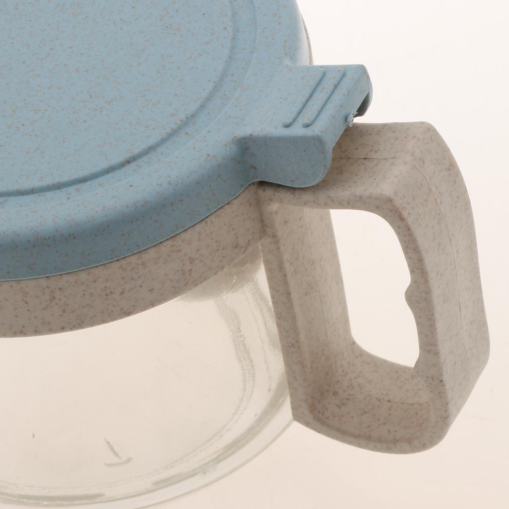 Wheat-Straw-Salt-Bowl-Condiment-Pot-Seasoning-Dispenser-Spice-Jar-with-Spoon miniature 8
