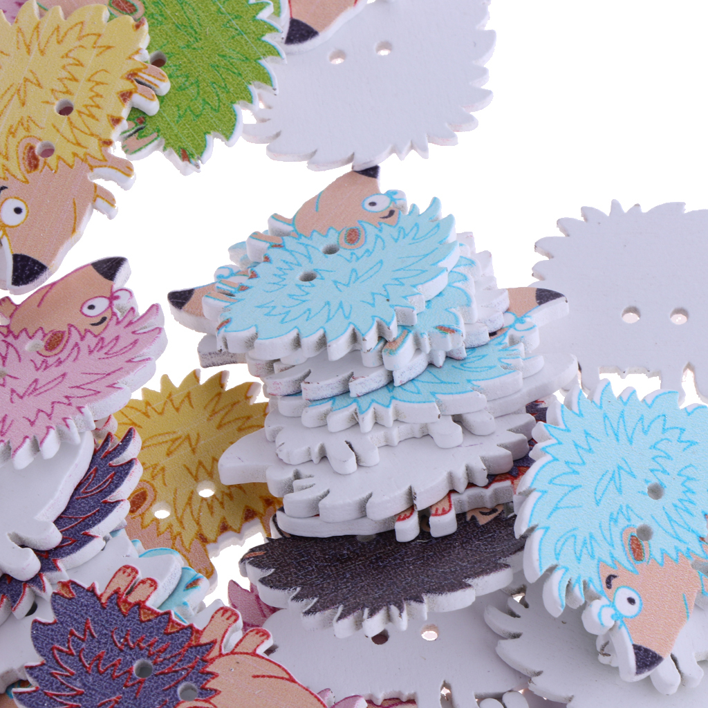 50pcs-Wooden-Buttons-2-hole-Cartoon-Animal-Buttons-for-DIY-Sewing-Scrapbooking thumbnail 17