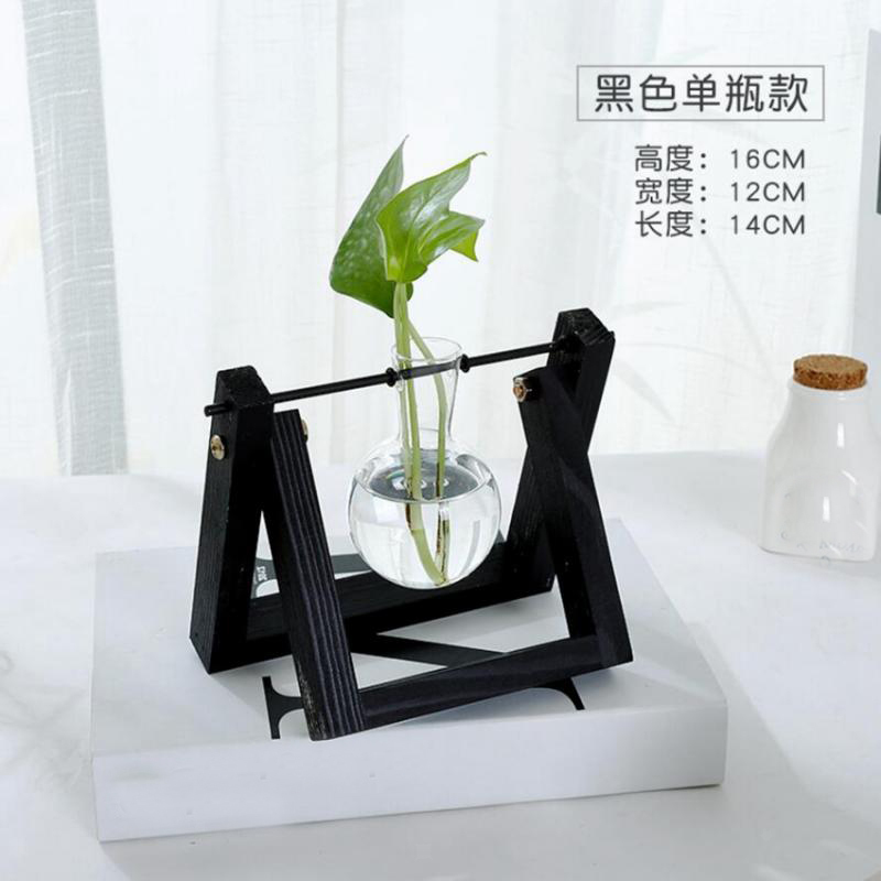 Tabletop-Hydroponic-Flower-Vase-Stands-Decorative-Wooden-Tray-with-1-2-3-Beakers thumbnail 66