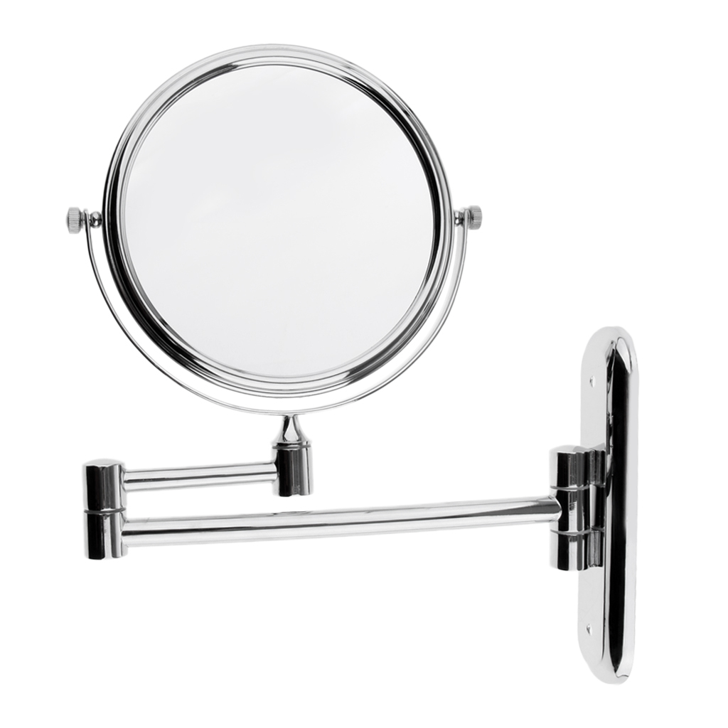 Extending Magnifying Make Up Bathroom Double-Sided Wall Mount Mirror ...