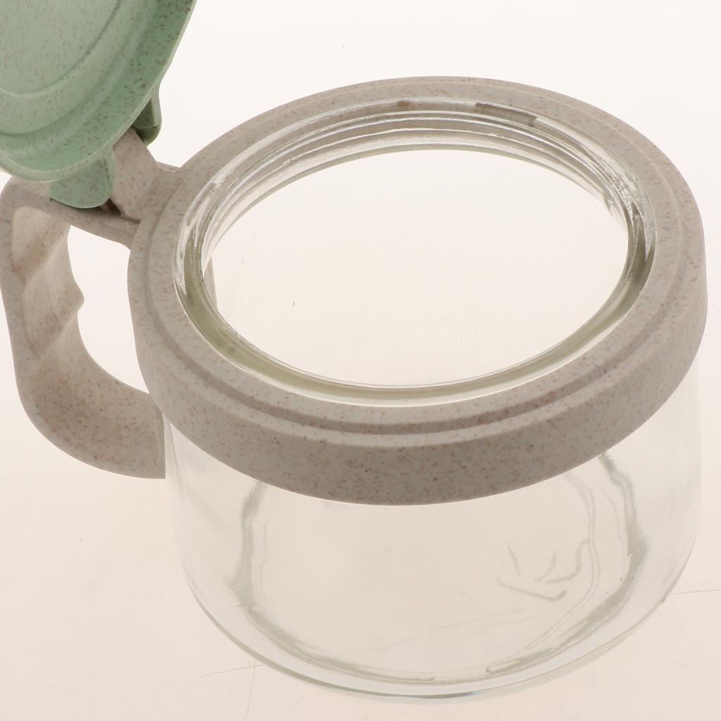 Wheat-Straw-Salt-Bowl-Condiment-Pot-Seasoning-Dispenser-Spice-Jar-with-Spoon miniature 13