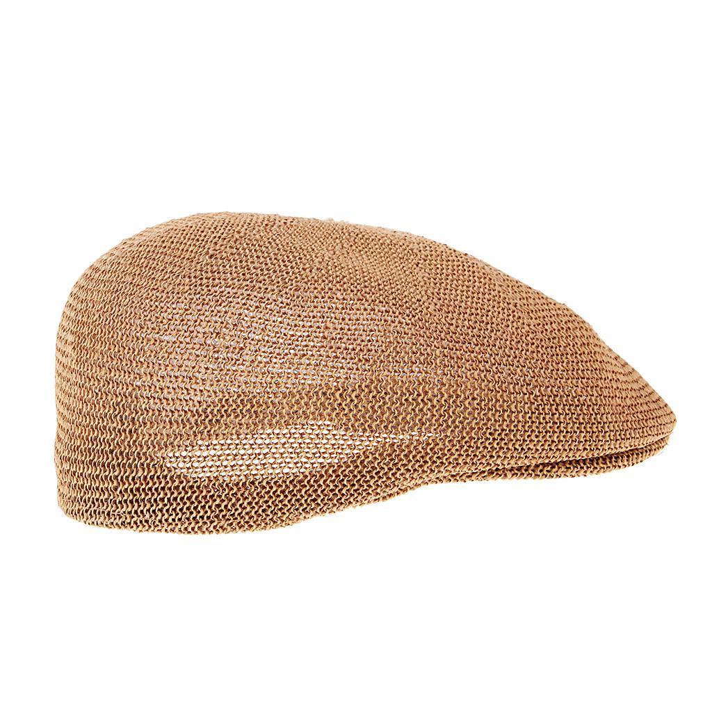 cappello-estivo-da-uomo-estivo-in-paglia-traspirante-berretto-newsboy miniatura 10