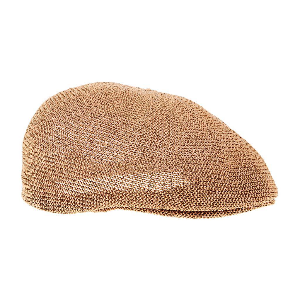 cappello-estivo-da-uomo-estivo-in-paglia-traspirante-berretto-newsboy miniatura 9