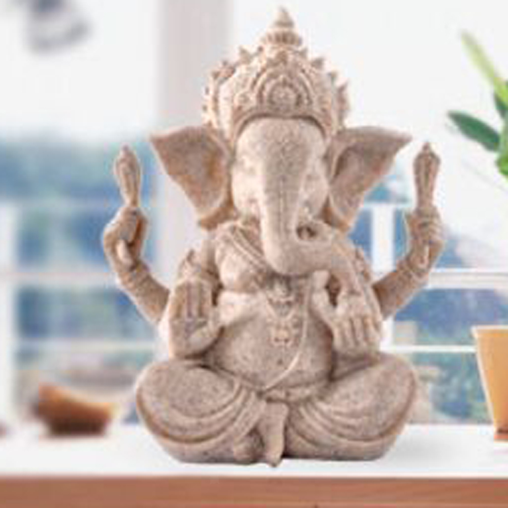 Sandstone-Carving-Statue-Sculpture-Buddha-Animal-Hand-Carved-Figurine-Decor thumbnail 47