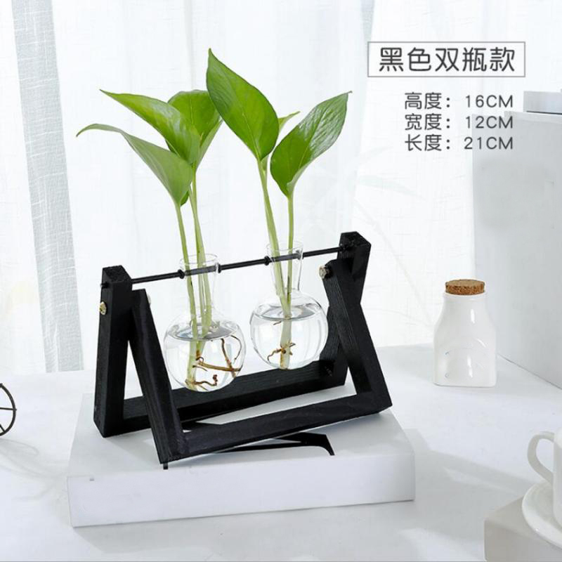 Tabletop-Hydroponic-Flower-Vase-Stands-Decorative-Wooden-Tray-with-1-2-3-Beakers thumbnail 74