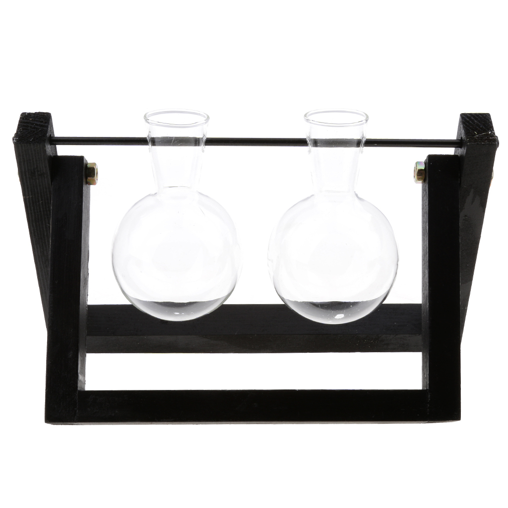 Tabletop-Hydroponic-Flower-Vase-Stands-Decorative-Wooden-Tray-with-1-2-3-Beakers thumbnail 80