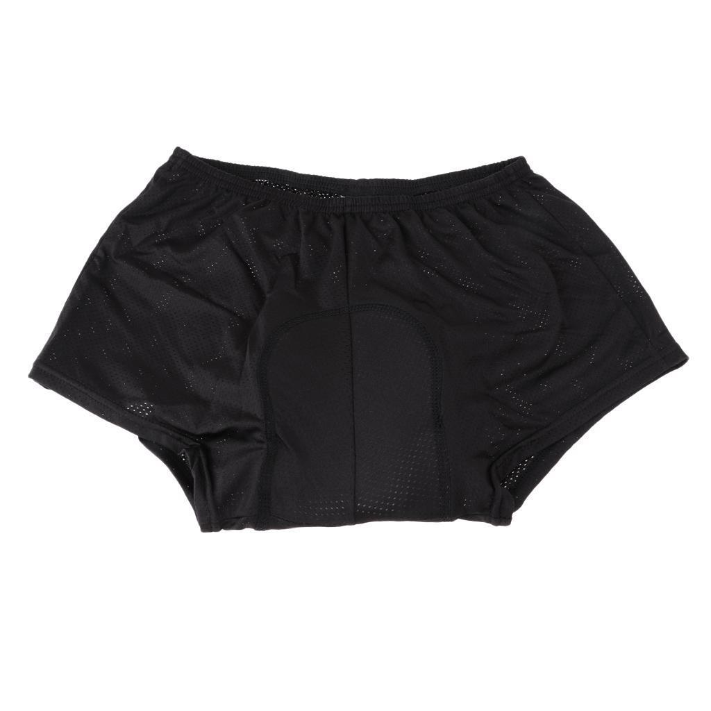Mens-velo-velo-sous-vetements-pantalons-courts-avec-Coussin-Cuissard miniature 4
