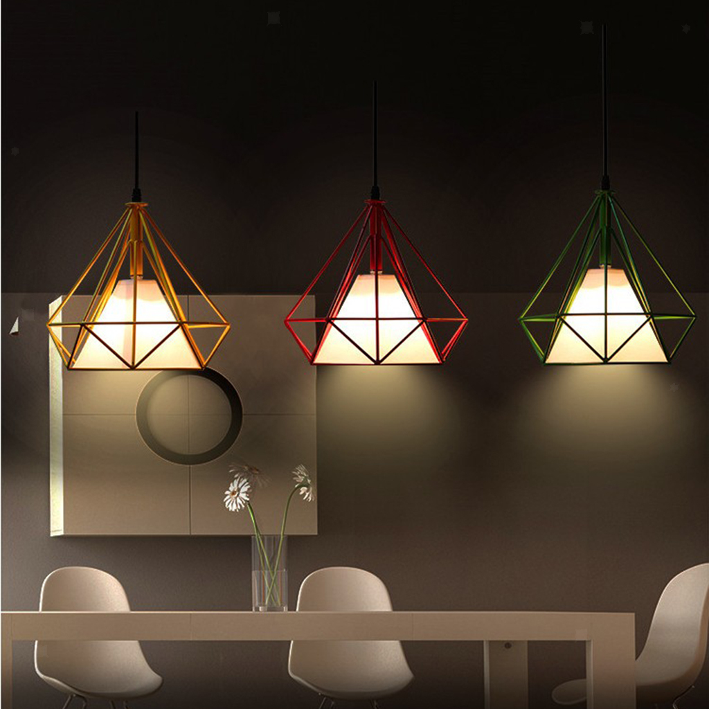 Modern-Geometric-Diamond-Caged-Ceiling-Pendant-Light-Shade-Easy-Fit-Lampshade thumbnail 13