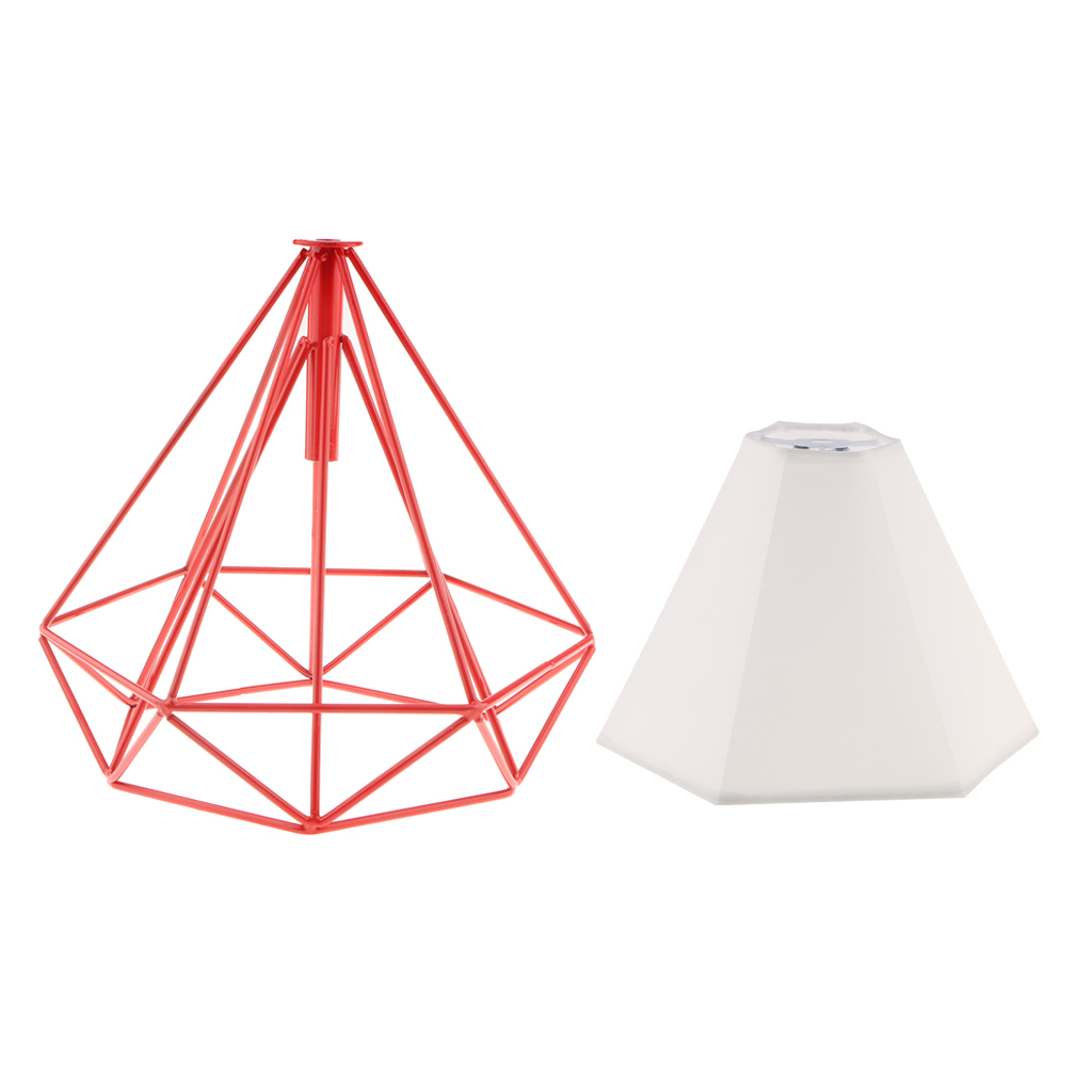 Modern-Geometric-Diamond-Caged-Ceiling-Pendant-Light-Shade-Easy-Fit-Lampshade thumbnail 14