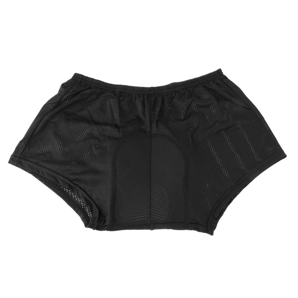 Mens-velo-velo-sous-vetements-pantalons-courts-avec-Coussin-Cuissard miniature 7