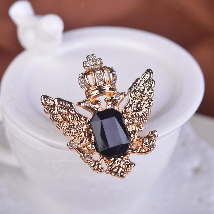 Unisex-Men-Vintage-Crystal-Crown-Eagle-Brooch-Pins-Suit-Breastpin-Collar-Pin thumbnail 9