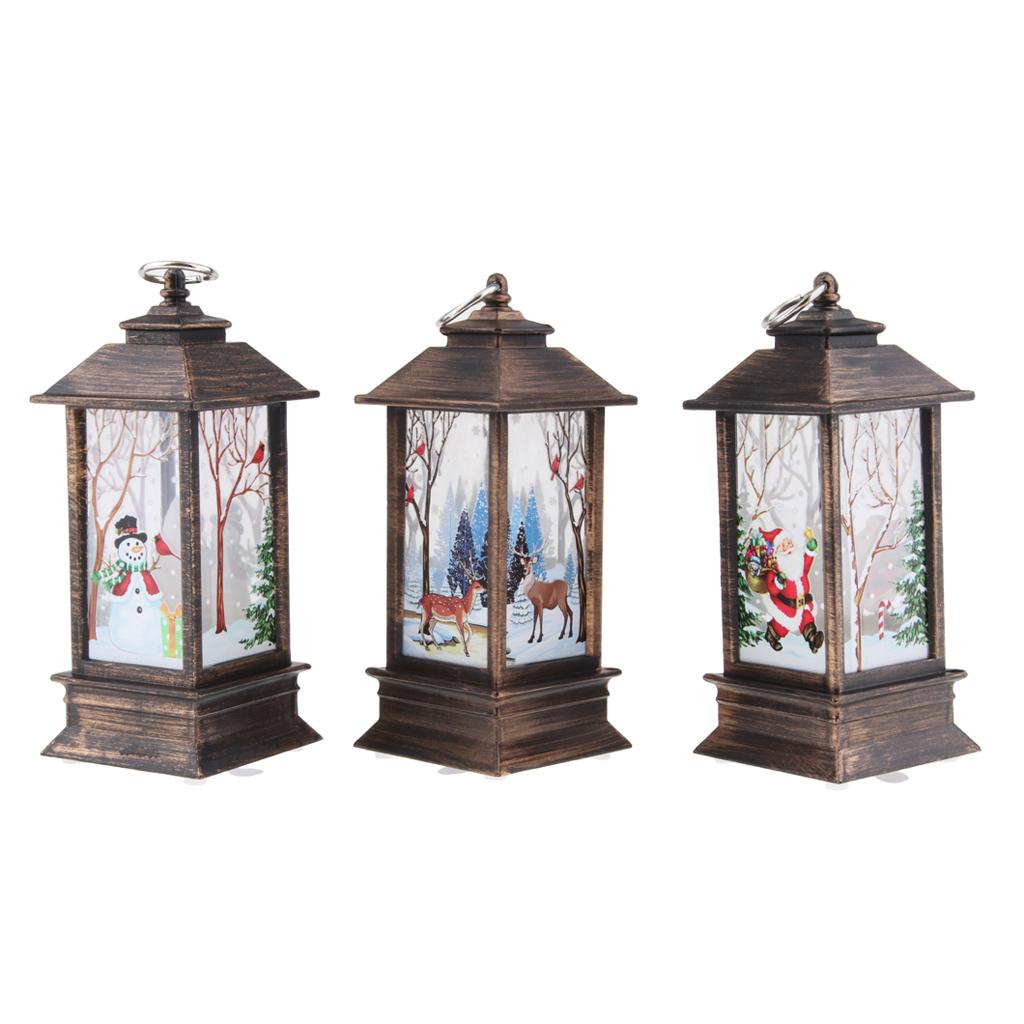 thumbnail 9 - Christmas LED Candle Lantern Xmas Lamp Decor DIY Home Party Gift Decoration