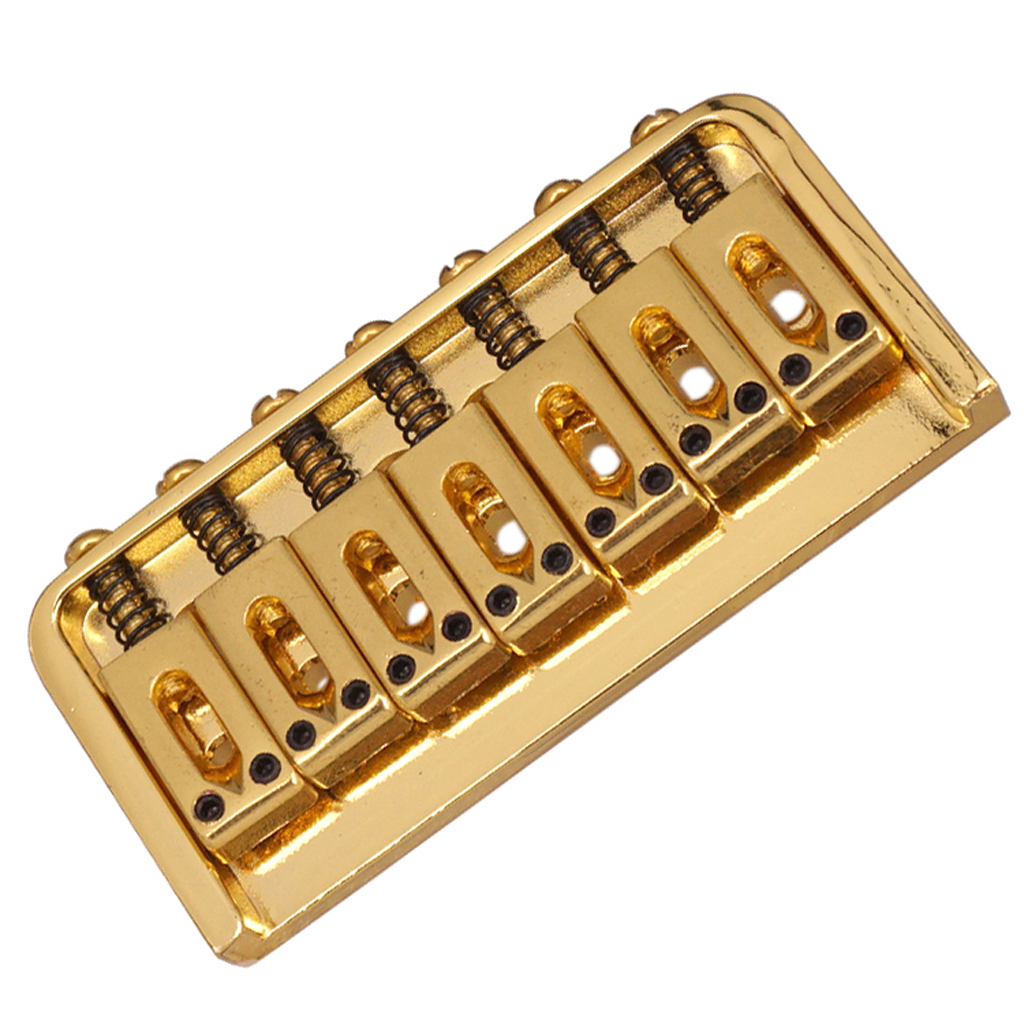 7 string saddle fixed type bridge for electric guitar parts w screws wrench ebay. Black Bedroom Furniture Sets. Home Design Ideas