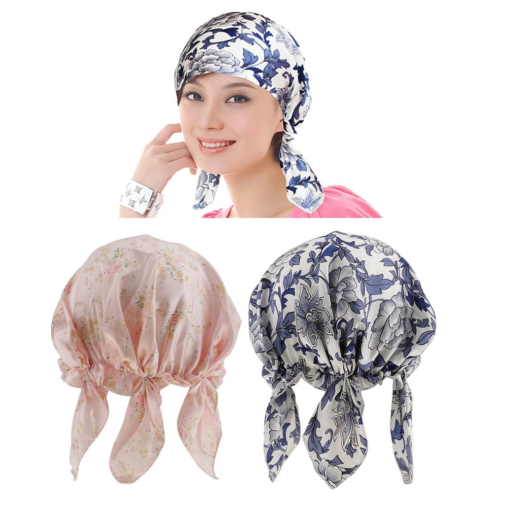 Seide Schlafmütze Nachtkappe Nachtmütze Haarschutz und Haarpflege komfort