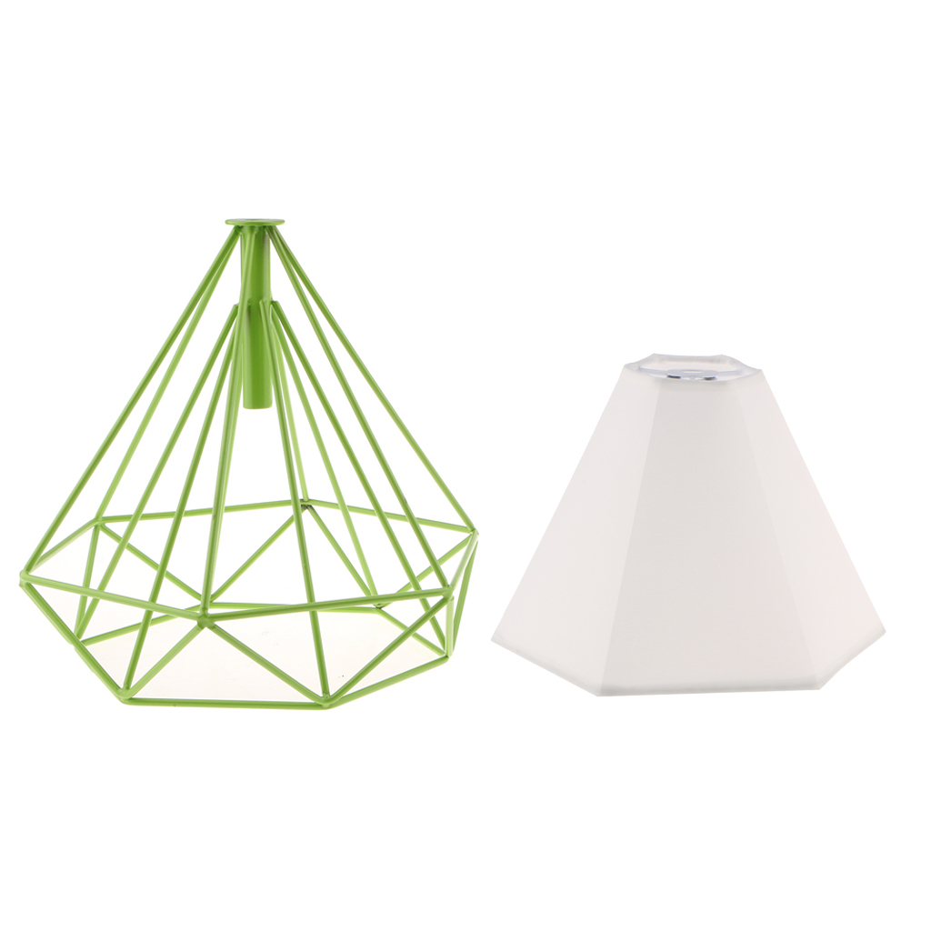 Modern-Geometric-Diamond-Caged-Ceiling-Pendant-Light-Shade-Easy-Fit-Lampshade thumbnail 19