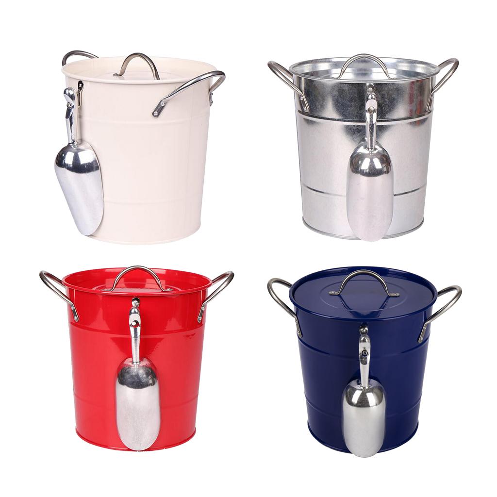 Wine//Champagne Ice Bucket Iron Wine Cooler Bucket with Scoop Bar Equipment