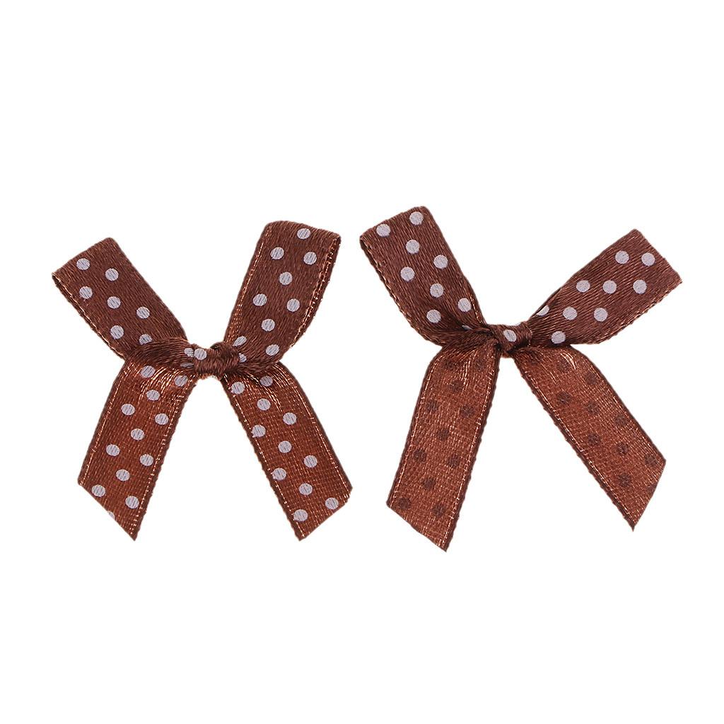 100x-Mini-Satin-Ribbon-Bows-Gift-DIY-Craft-Wedding-Decoration-Ornament miniature 9