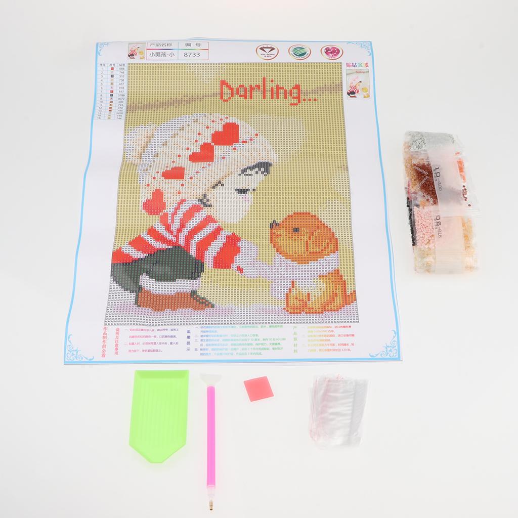 1-Set-5D-Diamond-Little-Boy-Pattern-Painting-Kits-Cross-Stitch-Mosaic-Crafts thumbnail 12