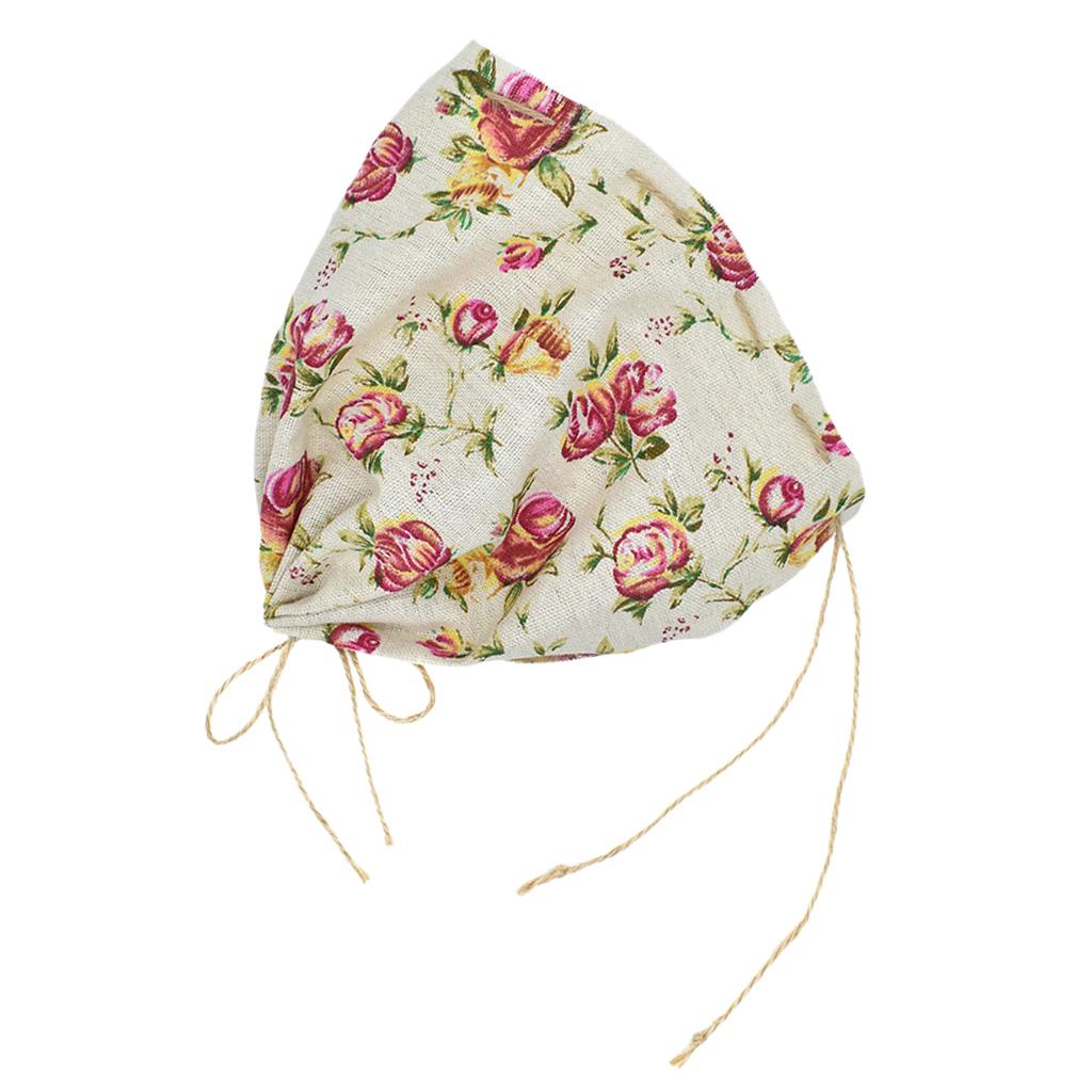 06B4 Infant Newborn Girls Kids Lace Floral Hat Cap Beanie Bonnet Hats Photo Prop