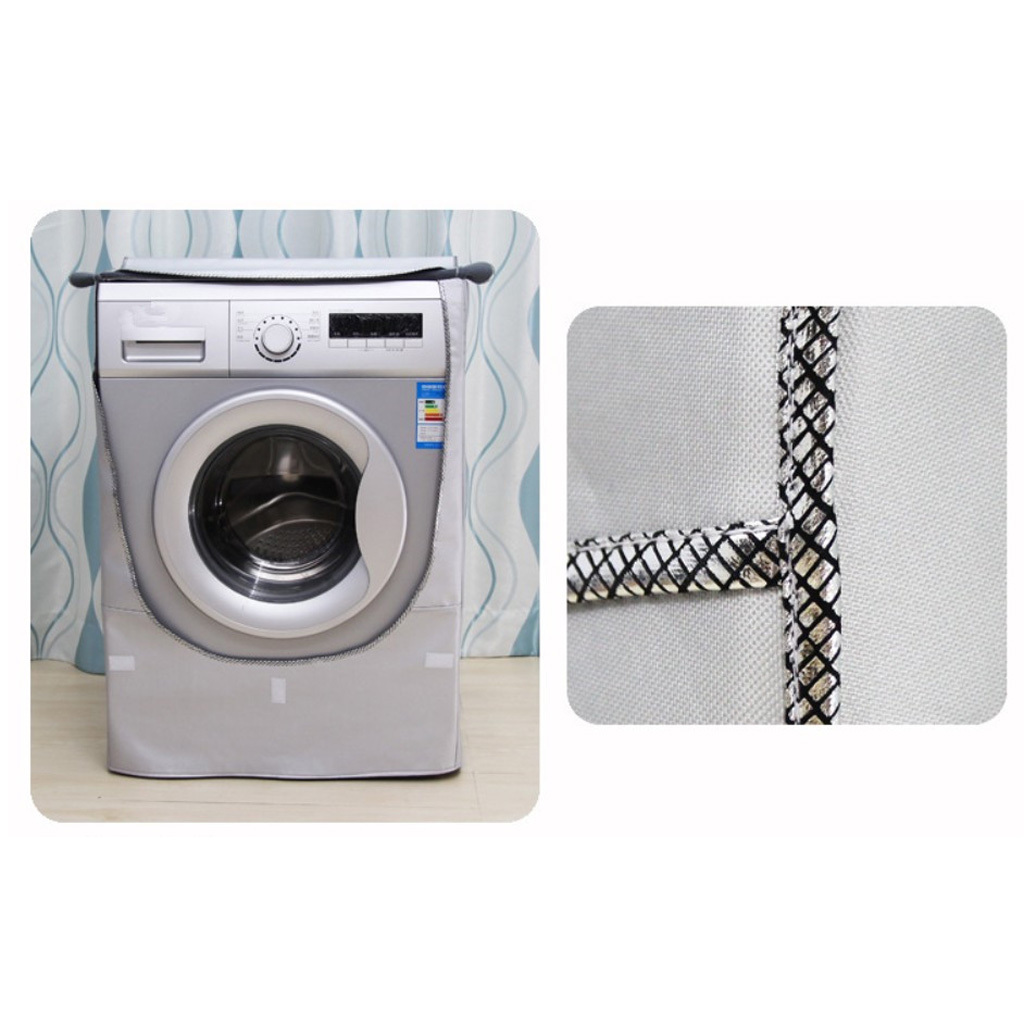 Dust Proof Top Washing Machine Dryer Silver Painted