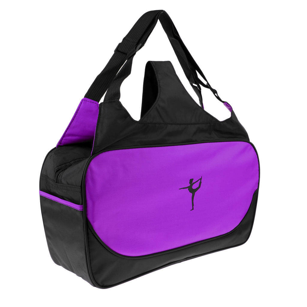 Yoga Mat Carrier Pilates Pad Bags with Adjustable Strap and Bottle Pockets