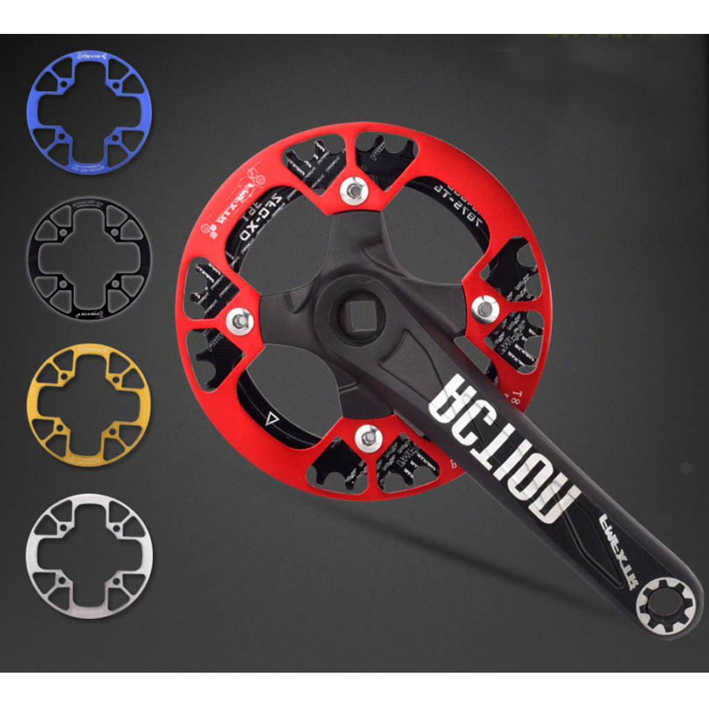 SNAIL 104bcd MTB Bicycle Narrow Wide Chainring 32-42T /& Chainwheel Chain Guards