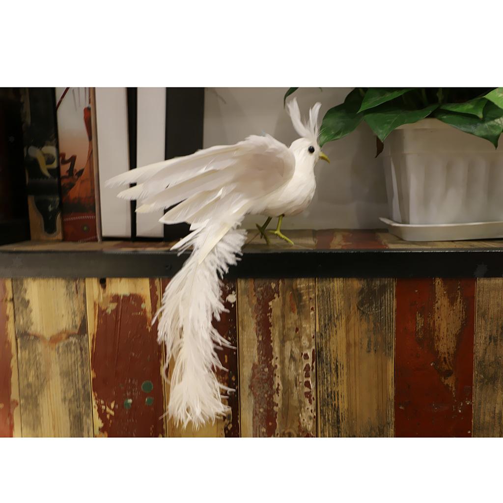 CN/_ Foam Birds Lawn Figurine Ornament Photo Props Garden Decor with Clip AU Re