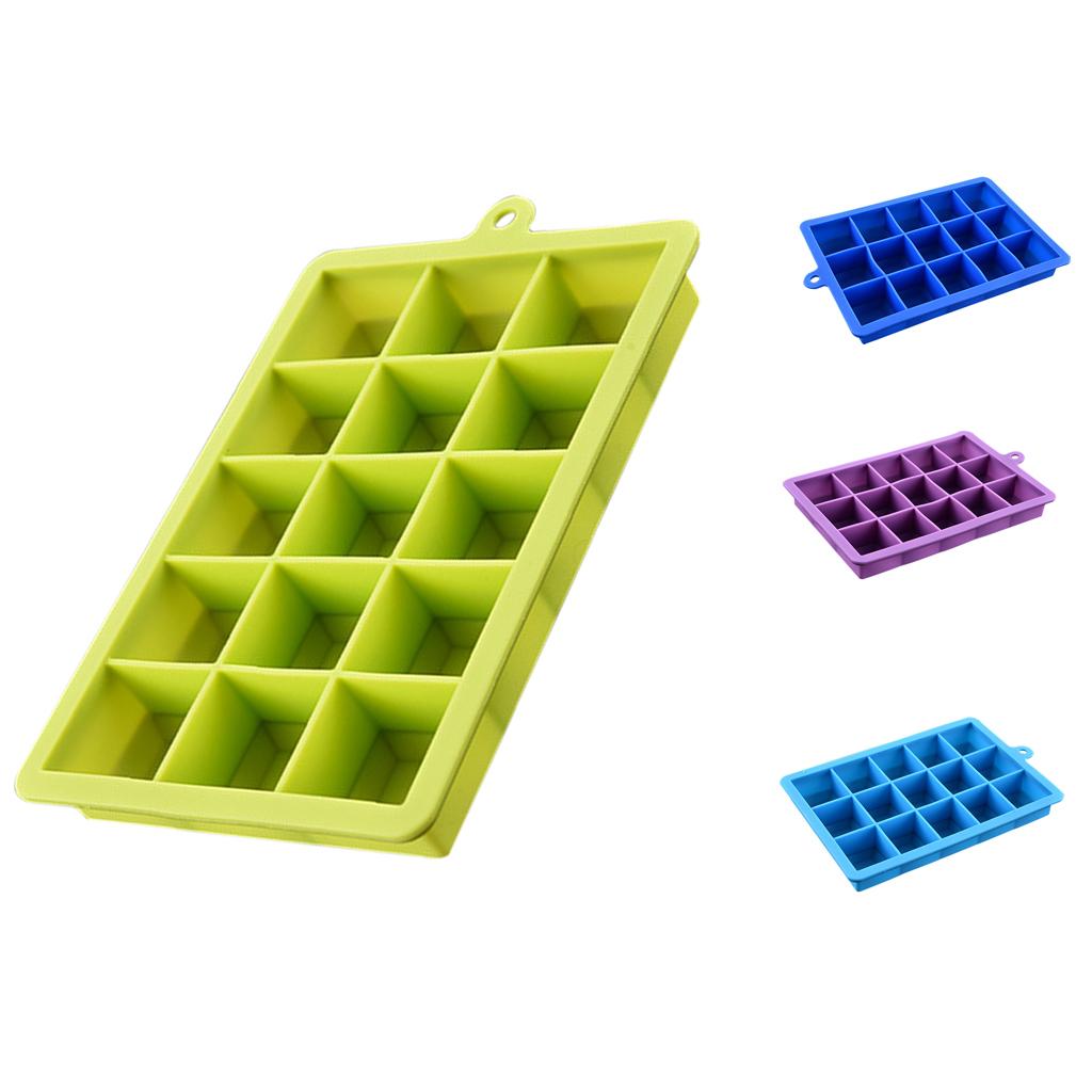 4-Couleurs-Silicone-Ice-Cube-Tray-Mold-Bar-Ice-Cube-Chocolate-Mold-Moule-Plateau miniature 4