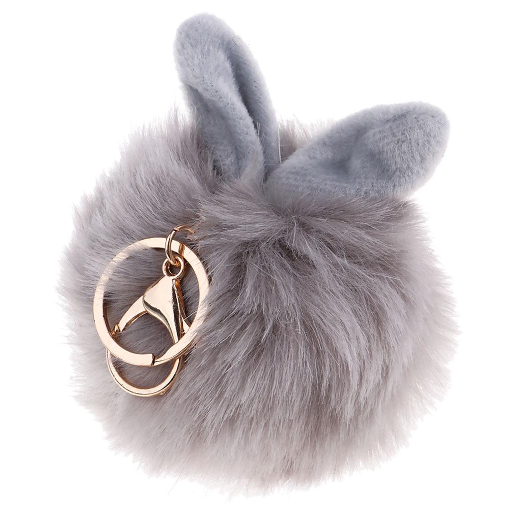 Charm-Handbag-Rabbit-Key-Chain-Key-Ring-Rabbit-Fur-Plush-Ball-Personal-Decor thumbnail 6