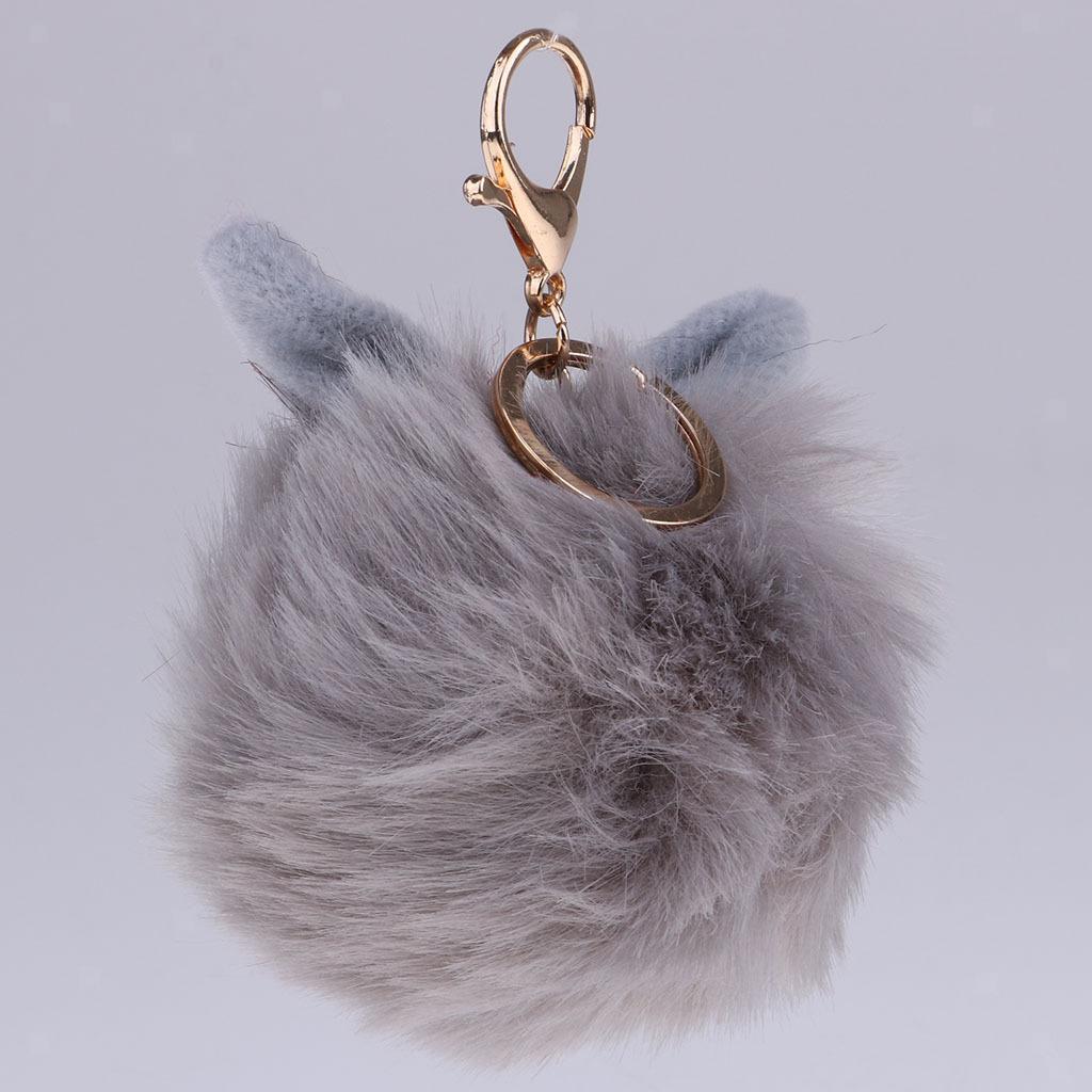 Charm-Handbag-Rabbit-Key-Chain-Key-Ring-Rabbit-Fur-Plush-Ball-Personal-Decor thumbnail 7