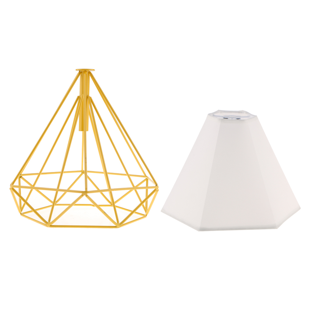 Modern-Geometric-Diamond-Caged-Ceiling-Pendant-Light-Shade-Easy-Fit-Lampshade thumbnail 21