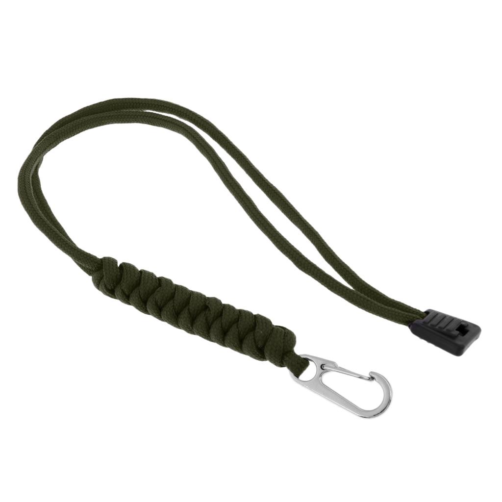 Porte-cle-Paracorde-avec-Mousqueton-Crochet-Couteau-de-Poche-Tactique miniature 8