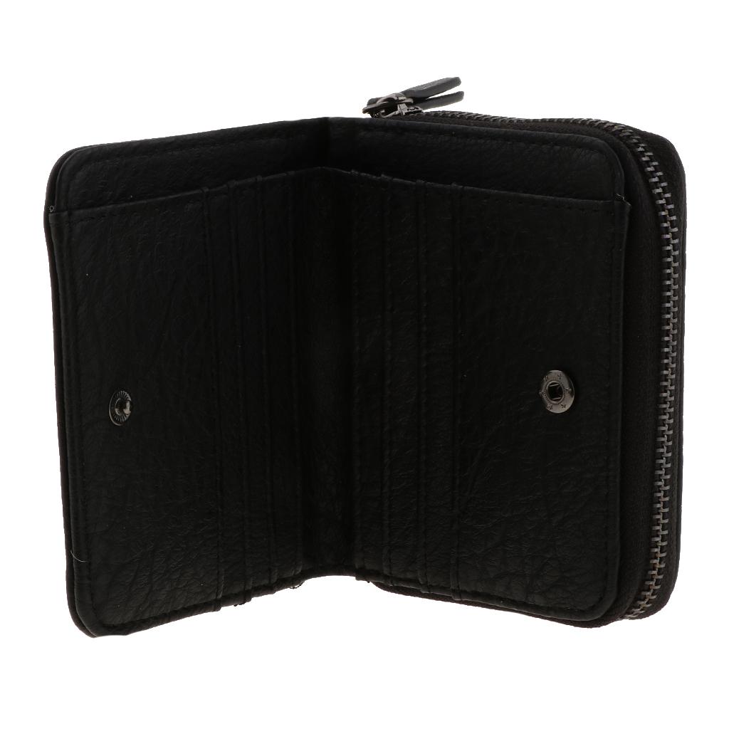 Portafoglio-da-donna-in-pelle-con-fermasoldi-Porta-carte-di-credito-da-donna miniatura 14