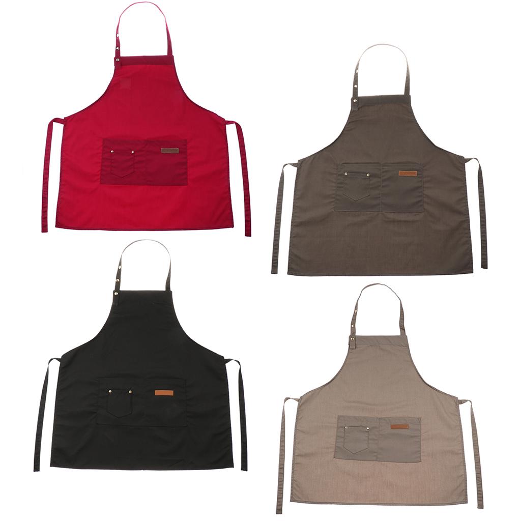 Adjustable-Bib-Apron-Dress-Kitchen-Restaurant-Chef-Classic-Cooking-Uniform thumbnail 4