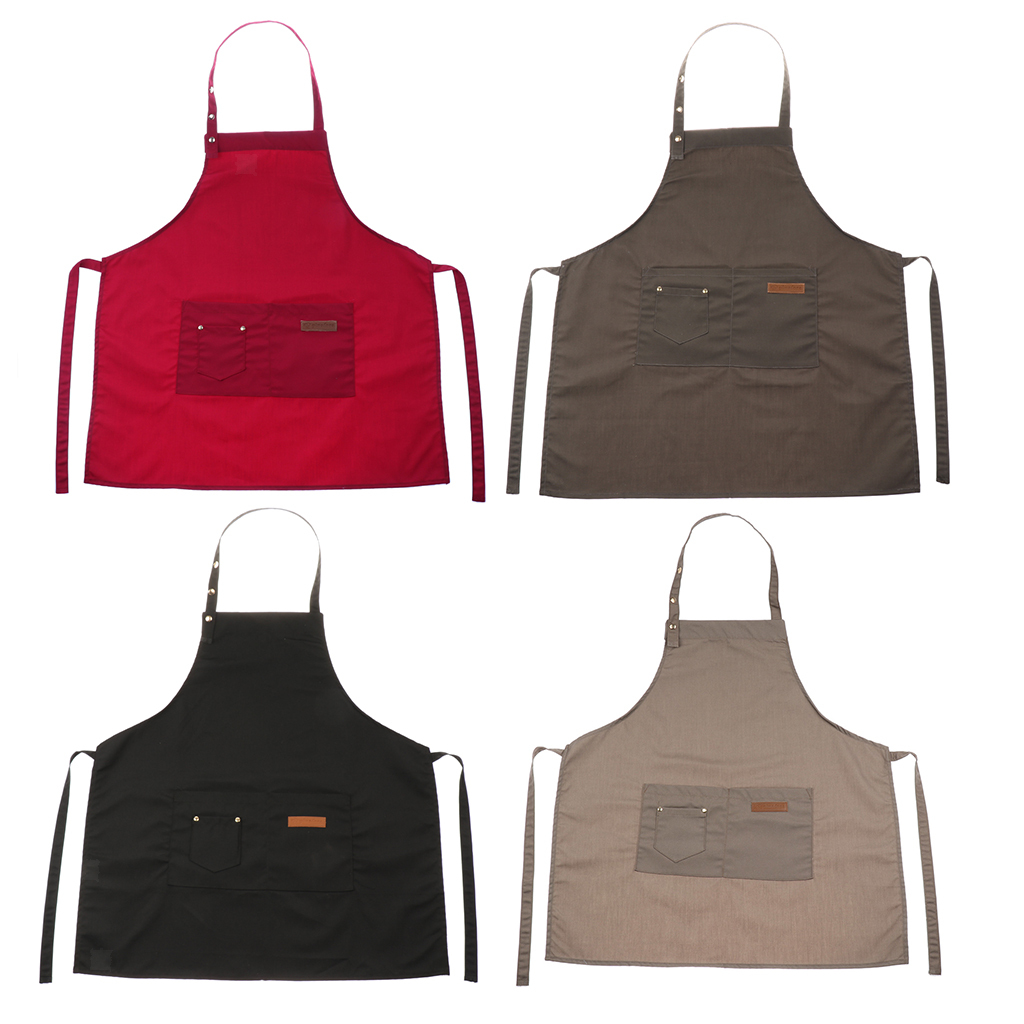 Adjustable-Bib-Apron-Dress-Kitchen-Restaurant-Chef-Classic-Cooking-Uniform thumbnail 3